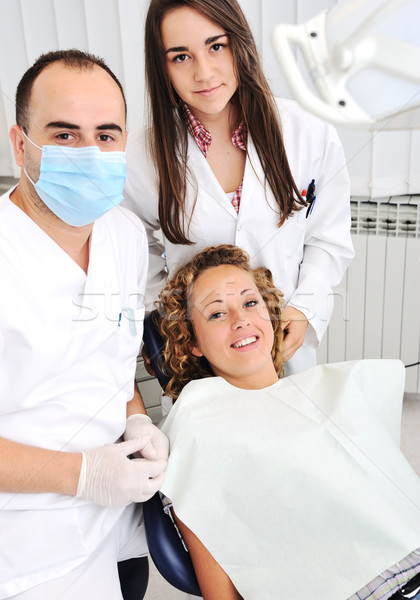 Stock photo: Dentist's teeth checkup, series of related photos