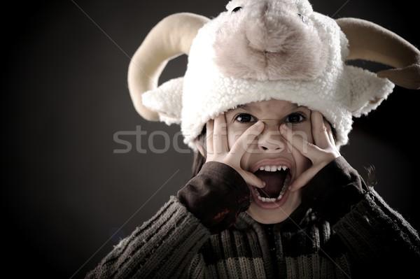 Portré aranyos kicsi fiú retró stílus autentikus Stock fotó © zurijeta