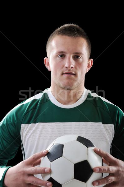 Człowiek piłka nożna Murzyn czarny sportu Zdjęcia stock © zurijeta
