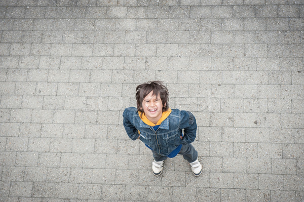 Ugrik fut gyerek utca kezek mosoly Stock fotó © zurijeta