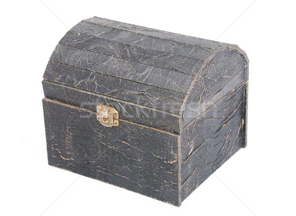 Velho peito isolado madeira fundo caixa Foto stock © zurijeta