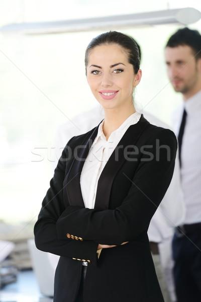 Successful business people at office Stock photo © zurijeta