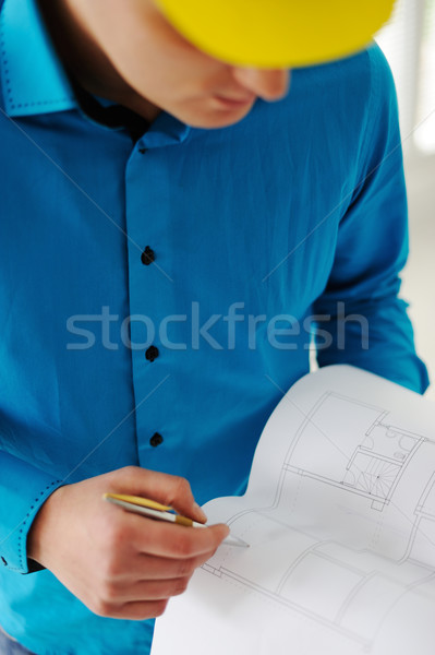 Closeup image of an achitect Stock photo © zurijeta