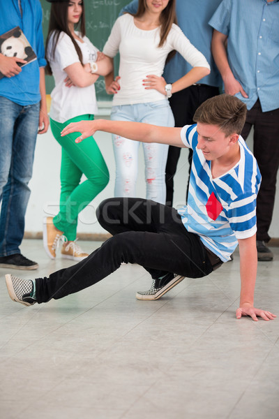 Playful student dancing Stock photo © zurijeta