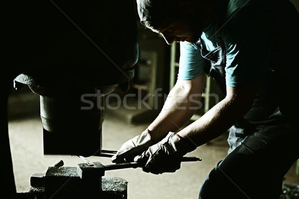 Eisen Prozess groß Temperatur Feuer alten Stock foto © zurijeta