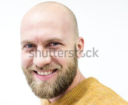 Chauve jeunes bel homme blond barbe souriant Photo stock © zurijeta