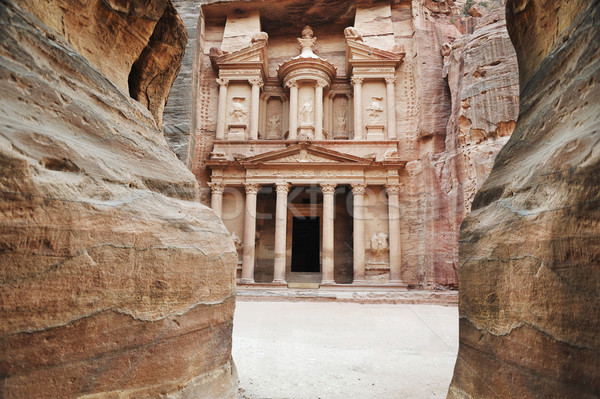 The imposing Monastery in Petra, Jordan Stock photo © zurijeta