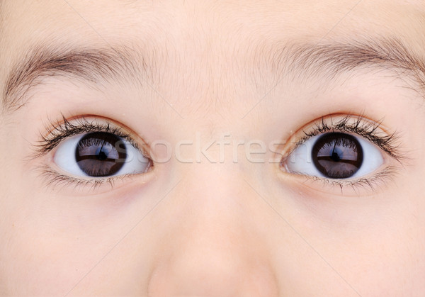 Stock photo: macro shot of child's eyes