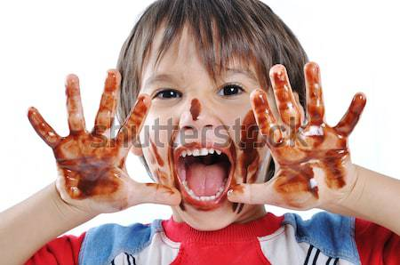 funny boy kid Stock photo © zurijeta