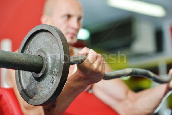 Vücut geliştirmeci egzersiz spor spor salonu salon Stok fotoğraf © zurijeta