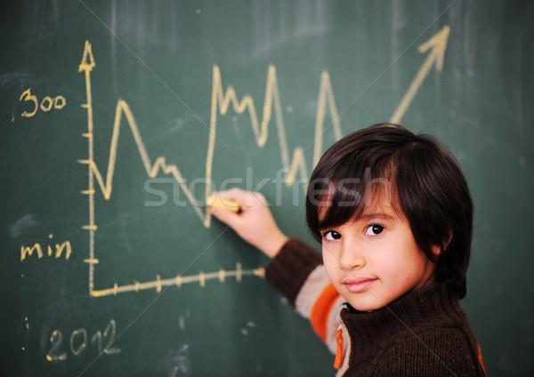 Aranyos iskolások osztályterem oktatás tevékenységek üzlet Stock fotó © zurijeta