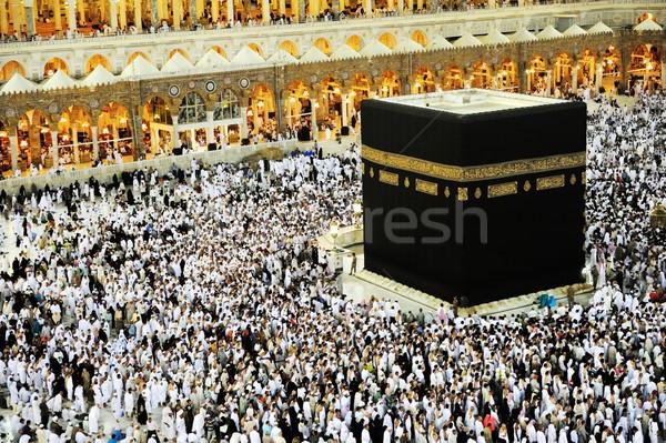Mecca muslim persone pregando insieme Foto d'archivio © zurijeta