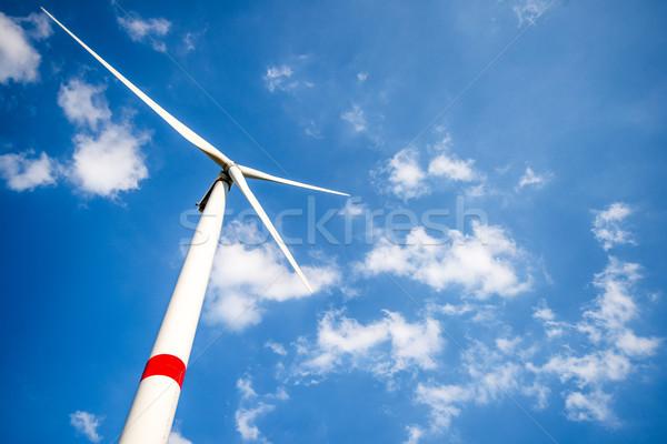 Wind turbine in daylight Stock photo © zurijeta