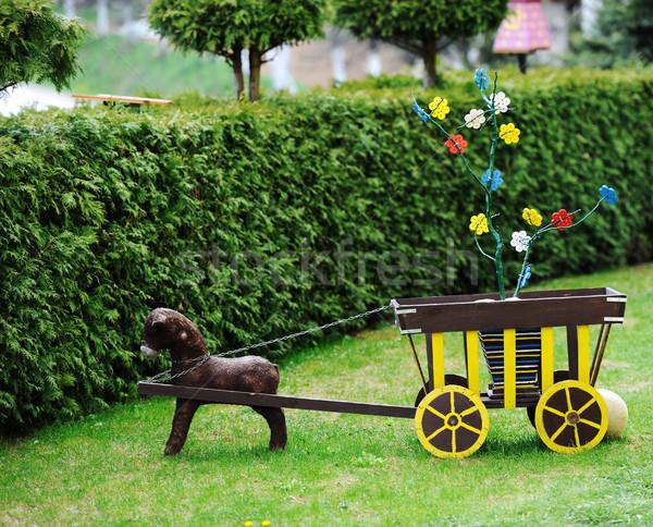 Velho brinquedos cão natureza projeto Foto stock © zurijeta