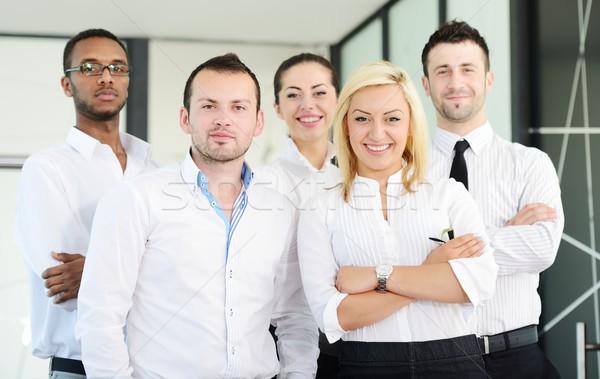 üzlet portré boldog többnemzetiségű cégvezetők áll Stock fotó © zurijeta