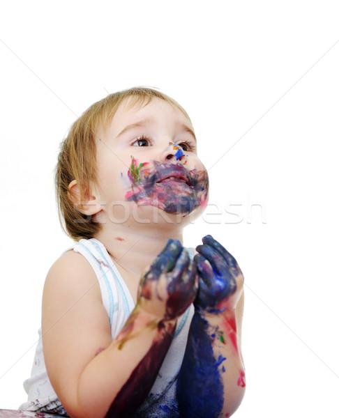 Messy baby Stock photo © zurijeta