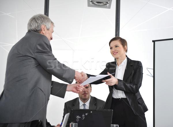 Parabéns trabalho negócio mão reunião Foto stock © zurijeta