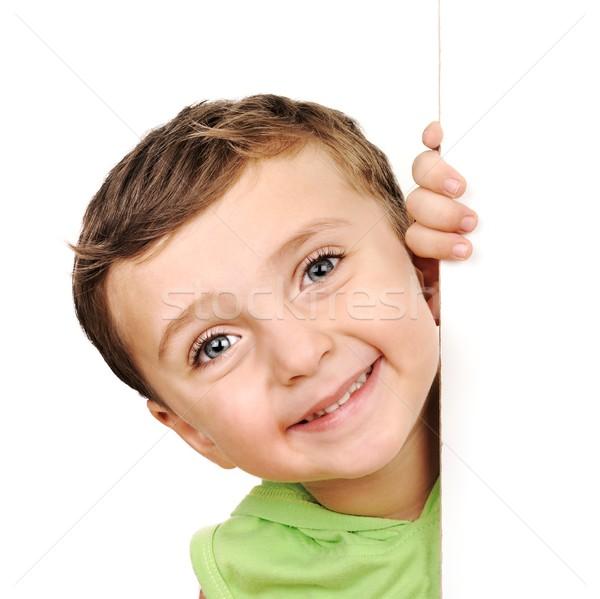 Little boy peeking Stock photo © zurijeta
