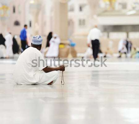 Muslims praying together at Holy mosque Stock photo © zurijeta