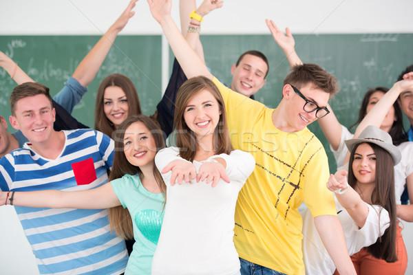 Groupe classe fond éducation Photo stock © zurijeta