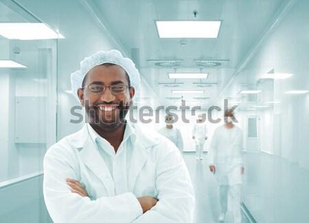 Werken mensen witte moderne faciliteit Stockfoto © zurijeta