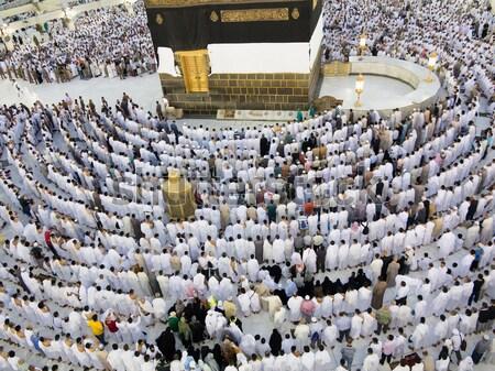 Heilig plaats menigte achtergrond Stockfoto © zurijeta