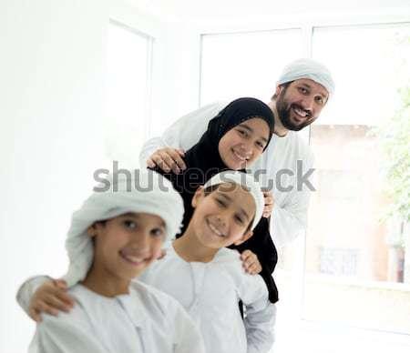 Közel-keleti emberek üzleti megbeszélés iroda arab férfi Stock fotó © zurijeta