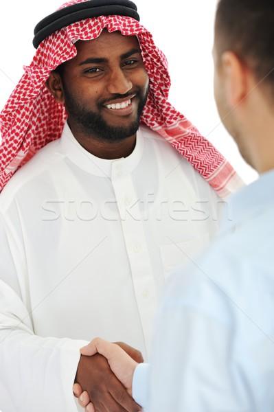 Arabe européenne homme d'affaires face Photo stock © zurijeta