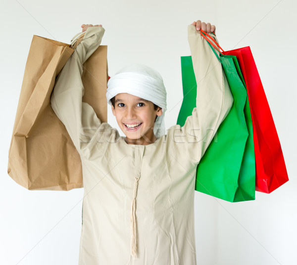 Arabskie dziecko uśmiech dziecko portret Zdjęcia stock © zurijeta