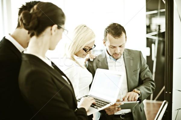 ретро успешный деловые люди реальный служба рабочих Сток-фото © zurijeta