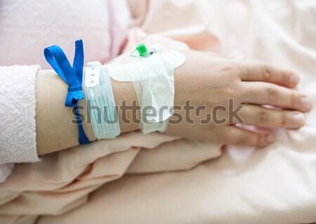 ストックフォト: 赤ちゃん · 病院 · イド · リボン · 手