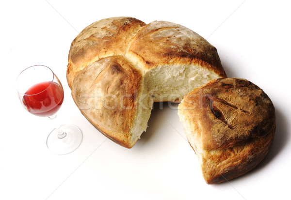 Bread and wine Stock photo © zurijeta