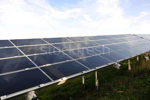 Stock photo: Solar panels energy field