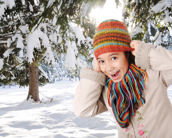 Winter happiness Stock photo © zurijeta