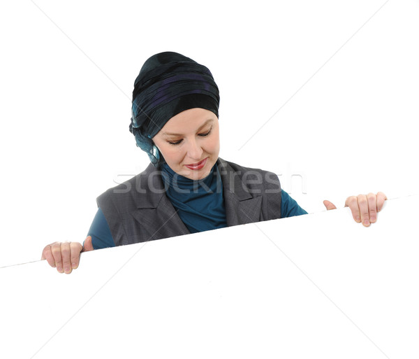 Confident and beautiful european  Muslim woman Stock photo © zurijeta