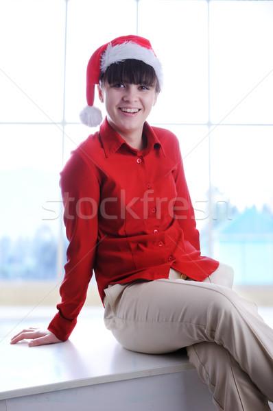Negócio ajudante trabalhando escritório mulher Foto stock © zurijeta