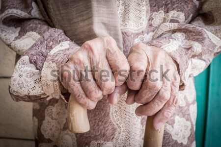 Rope binding man's hands Stock photo © zurijeta