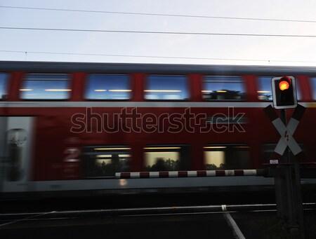 Treno metropolitana tunnel veloce brano movimento Foto d'archivio © zurijeta