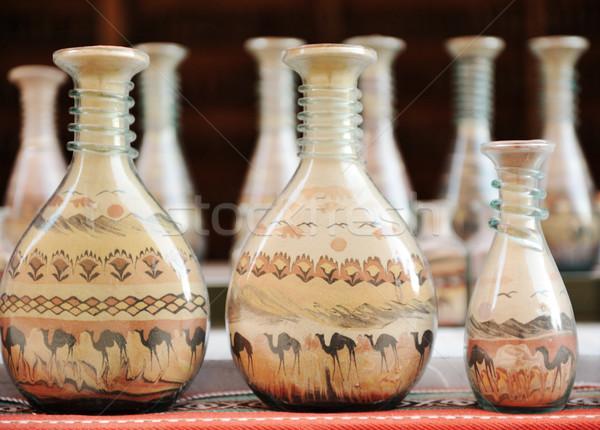 ボトル 砂 砂漠 ラクダ ストックフォト © zurijeta