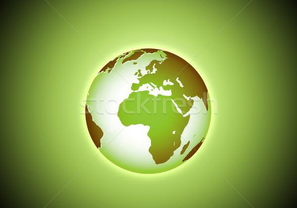Verde belo terra espaço globo mapa Foto stock © zurijeta