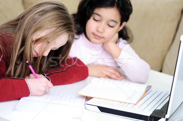 Infancia portátil aprendizaje jugando escuela estudiante Foto stock © zurijeta