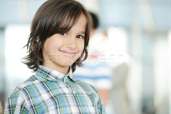 Cute piccolo ragazzo ritratto kid Foto d'archivio © zurijeta