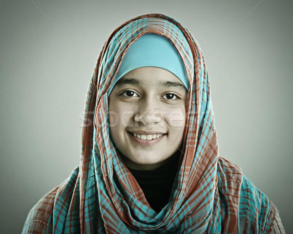 Portrait of a beautiful Muslim Arabic girl Stock photo © zurijeta