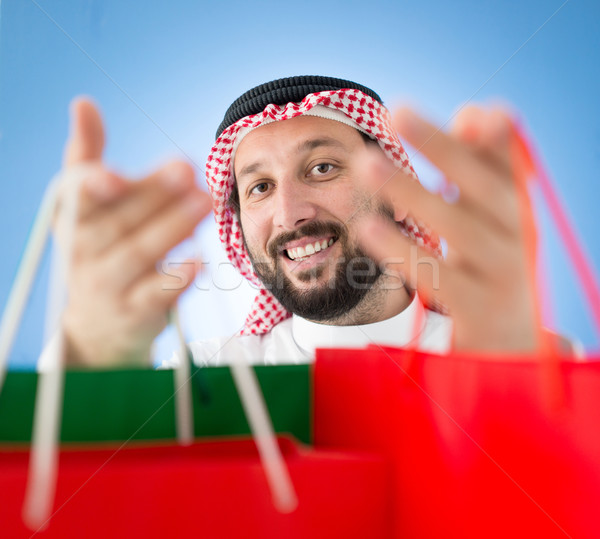 Arabian mall shopper Stock photo © zurijeta