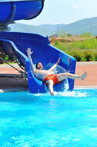 On beautiful pool, summer great time! Stock photo © zurijeta