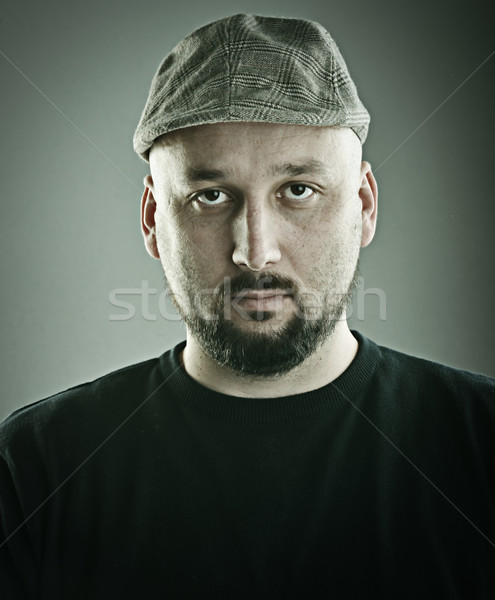 Portrait bel homme visage mode modèle cheveux Photo stock © zurijeta
