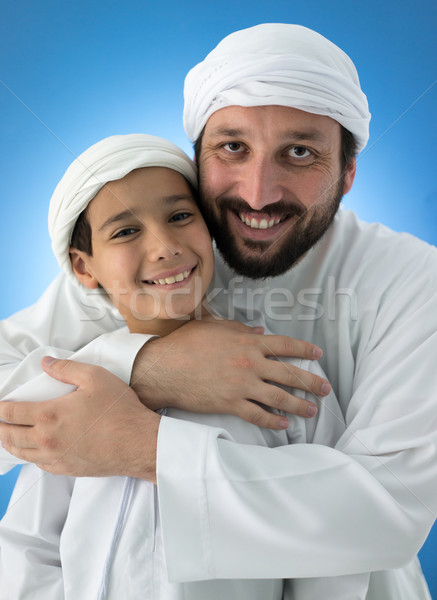 Father and son enjoying in love Stock photo © zurijeta