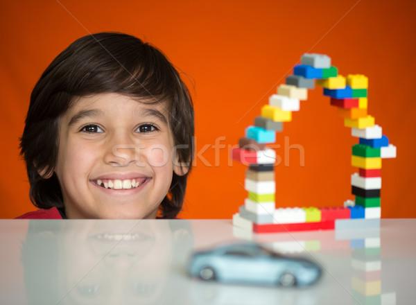 Building house and buying car Stock photo © zurijeta