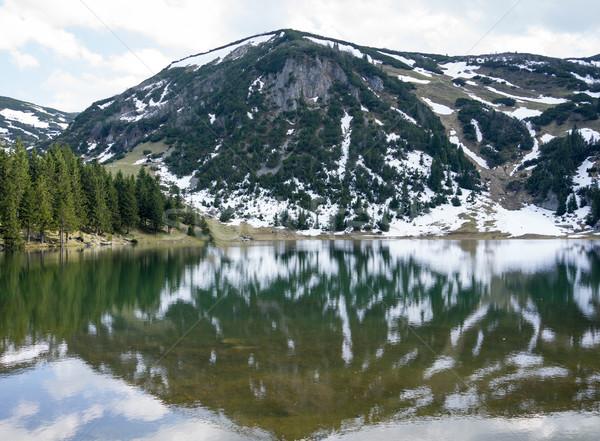 горные ледник воды облака пейзаж снега Сток-фото © zurijeta
