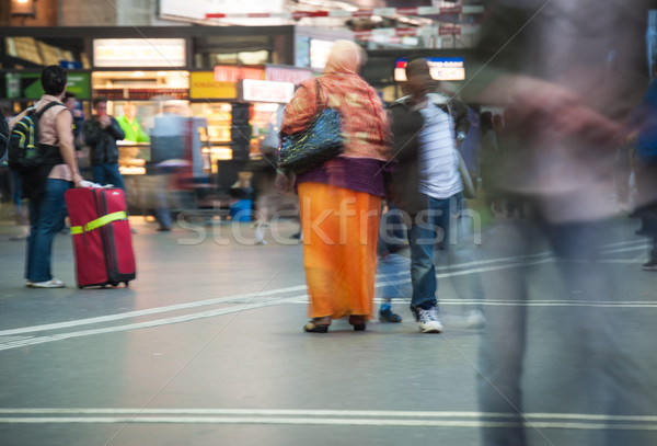 People walking on street and subway Stock photo © zurijeta